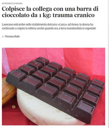チョコが凶器
