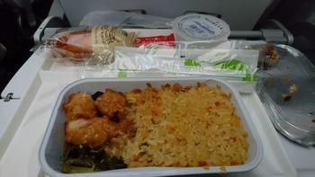 機内食2チャーハン
