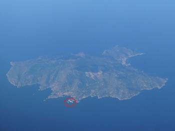 ジーリォ島と転覆豪華客船