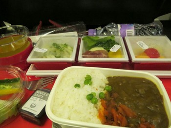 シーフードカレーの機内食