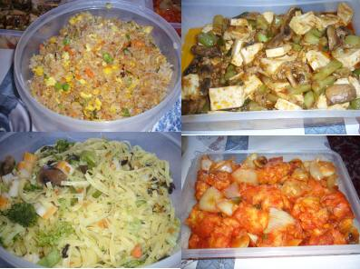 お昼ご飯4種