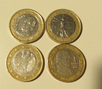 4種類の1ユーロ