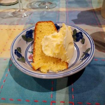 ケーキとアイス