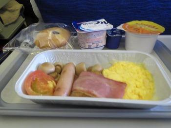 機内での朝食