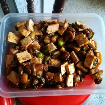 野菜入り麻婆豆腐