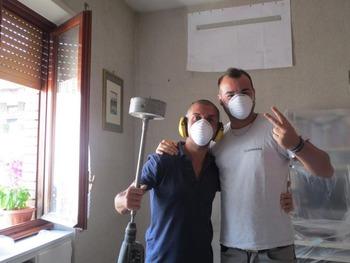 工事人ミルコ君と助手の従兄弟