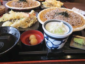 天ぷらとざるそば