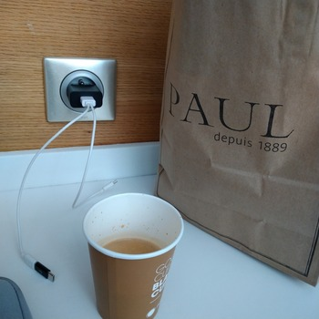 コーヒーと充電