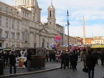 ナヴォナ広場のクリスマスマーケット