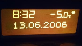 記録的寒さ