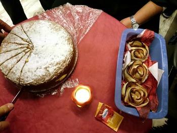 豆乳クリームのケーキとリンゴのケーキ