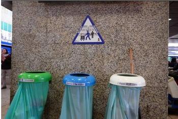 ゴミ箱と看板