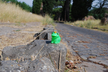 がっちゃん蛙@旧アッピア街道