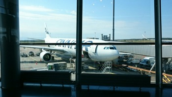 ○ィンエアーの飛行機