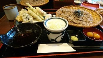 野菜天ぷら蕎麦