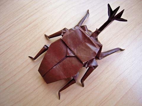 カブトムシ・折り紙
