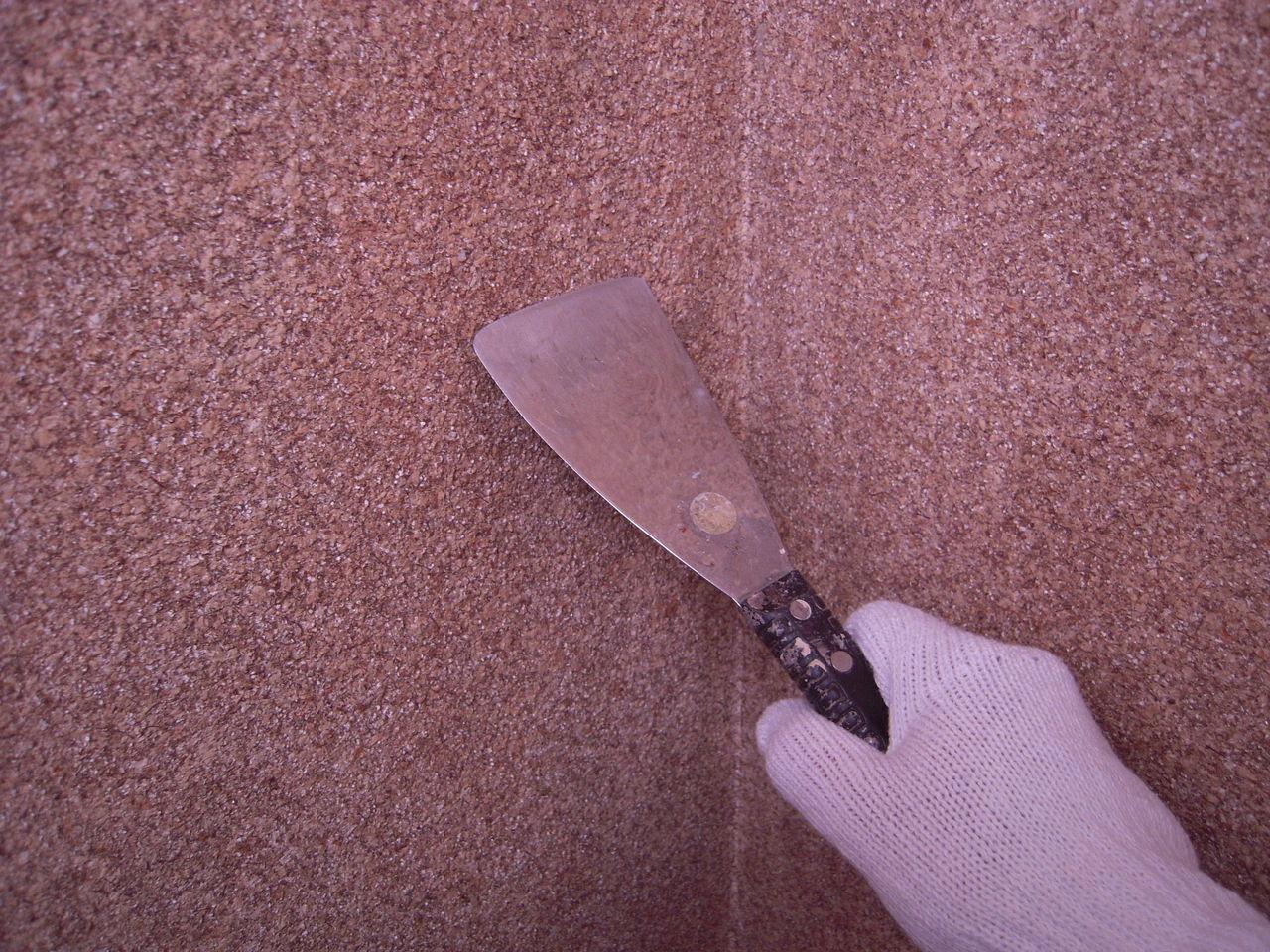 トイレの壁紙貼り 繊維壁の気持ちいいはがし方 いえけあれぽーと