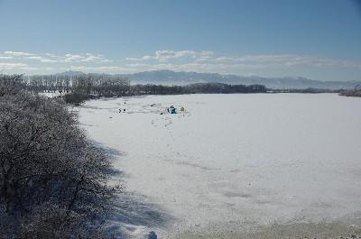 ワカサギ釣りの川18