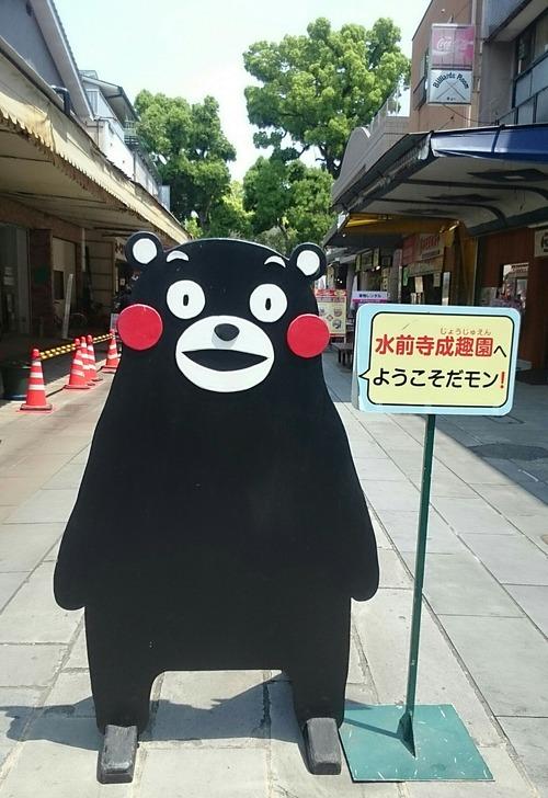くまモン 水前寺成趣園