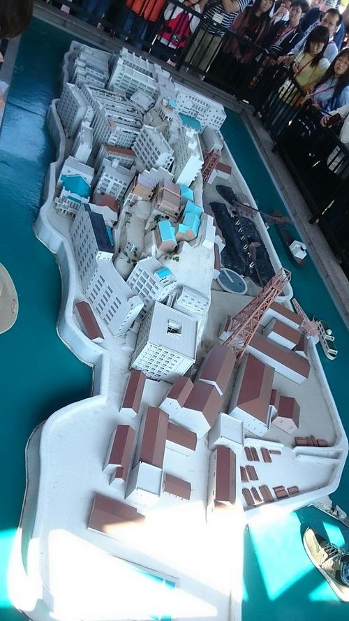 軍艦島上陸クルーズ 高島石炭資料館 軍艦島模型