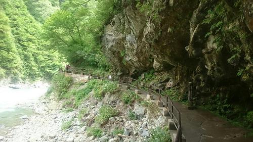 黒部峡谷 猿飛遊歩道