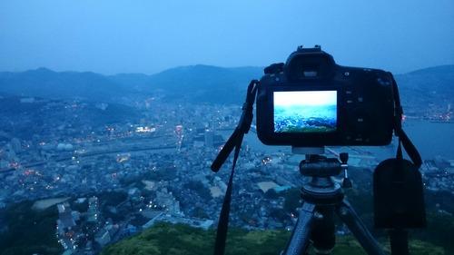 撮影風景 長崎市街 稲佐山展望台