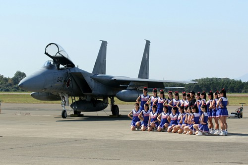 記念撮影 水戸商業高校 Blue Twinkle's 第30回 百里基地航空祭