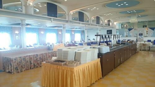 さんふらわあ「ふらの」 船内公開 レストラン 艦艇公開in大洗