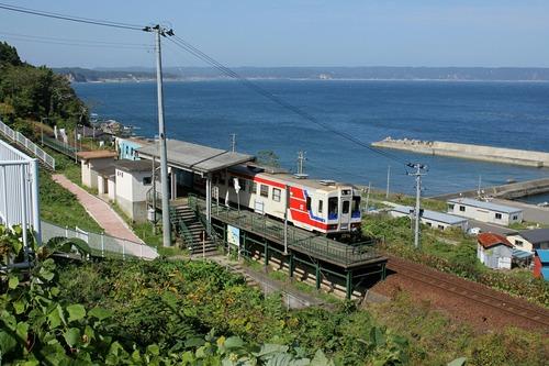三陸鉄道 堀内駅 (あまちゃん 袖が浜駅)