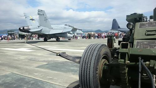 F/A-18 アレスティング・ワイヤー 岩国基地 フレンドシップ・デー