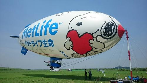 HELLO! スヌーピーJ号 飛行船一般公開イベント