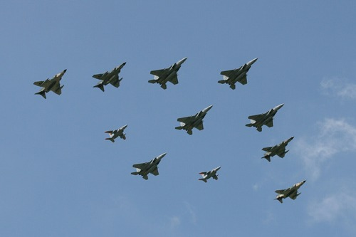異種編隊飛行 百里基地航空祭 2006.7.30