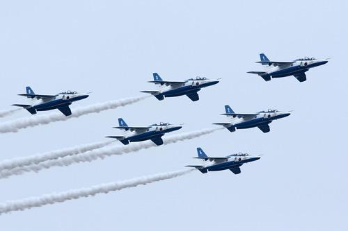 ブルーインパルス デルタ隊形 百里基地創設50周年記念航空祭