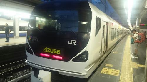 JR東日本 E257系電車 特急あずさ26号 新宿駅