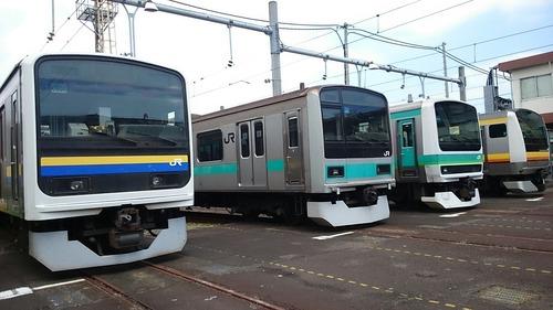 車両展示 通勤電車 JR東日本 東京総合車両センター 夏休みフェア2015