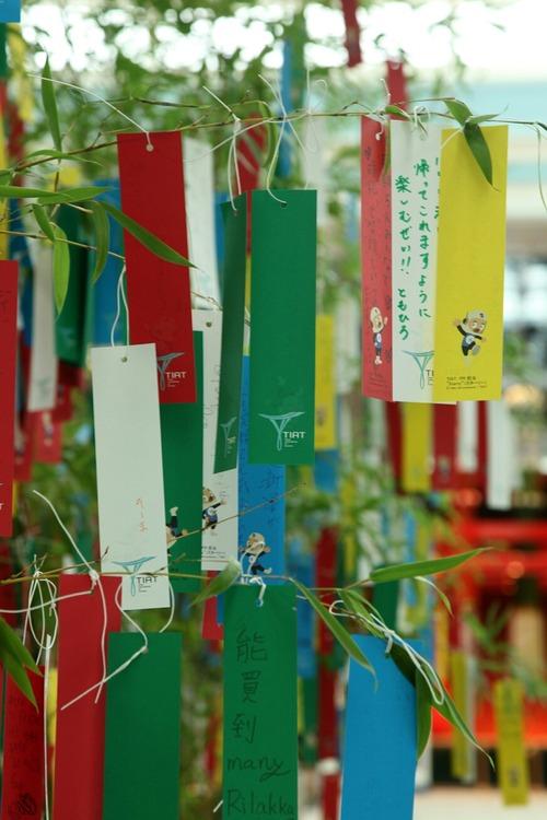 七夕 羽田空港国際線ターミナル 星に願いを