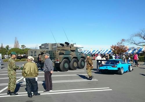車両展示 ドラえもんRX-7 陸上自衛隊 Fly Again Tsuchiura2017