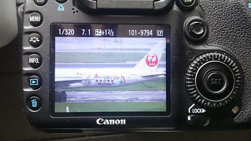 液晶モニター画像 JAL FLY to 2020 特別塗装機
