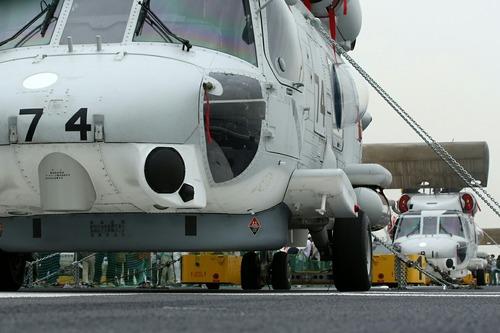 SH-60J 哨戒ヘリコプター 護衛艦いずも一般公開 横浜大桟橋