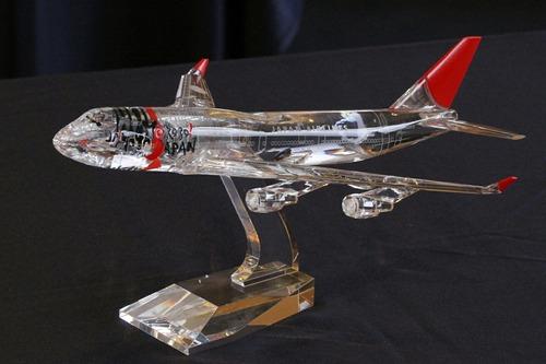 モデルプレーン JAL B747-400 JA8915 クリスタル