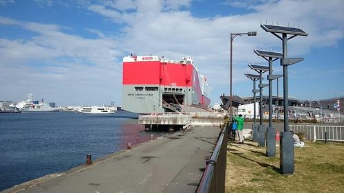 川崎汽船 ドライブグリーンハイウェイ 横浜大桟橋