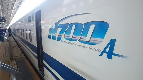 新幹線 N700A 新大阪駅