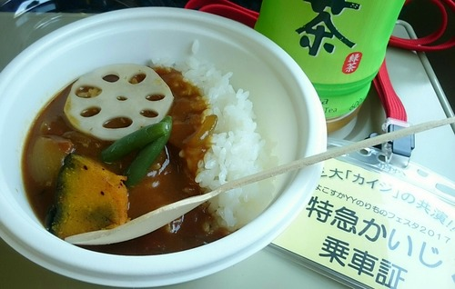 横須賀海自カレー よこすかYYのりものフェスタ 特急かいじ