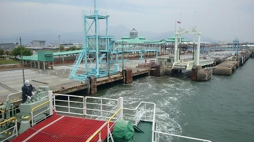 九商フェリー くまもと 熊本港 出航