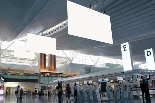 羽田空港 国際線ターミナル出発ロビー 加工画像