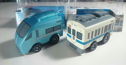 小田急 プルバックトレイン 5000形通勤車両 ロマンスカーMSE