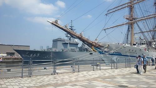 第34回横浜開港祭 帆船日本丸 & 掃海母艦うらが 新港埠頭