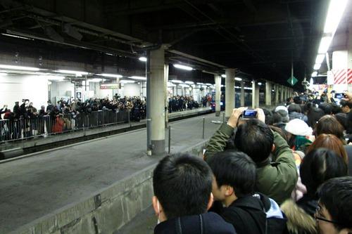 寝台特急北斗星 定期運行ラストラン出発 上野駅