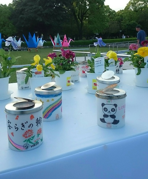 フラワーキャンドルメッセージ 広島 平和記念公園 FF