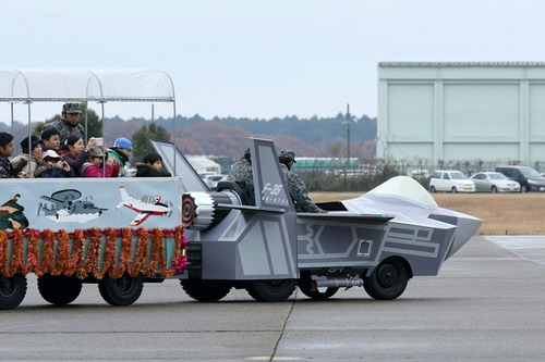 花電車 F-35 百里基地創設50周年記念航空祭
